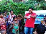 Community members in Slums learn how to wash their hand properly to avoid contamination